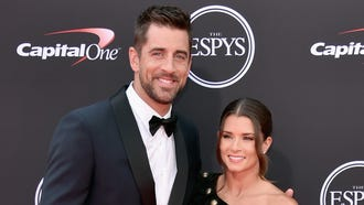 Aaron Rodgers and girlfriend Danica Patrick hit the red carpet before she hosted the ESPYs.