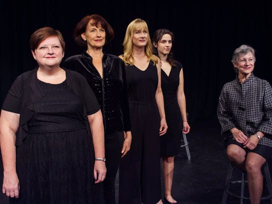 "The cast of ""Love, Loss and What I Wore,"" from left:"