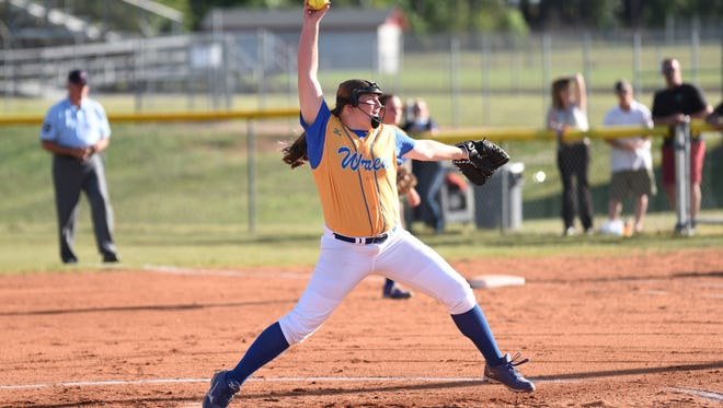 Ashley Collins, a member of the Wren varsity softball team for five years, signed to continue her career at Mars Hill University.