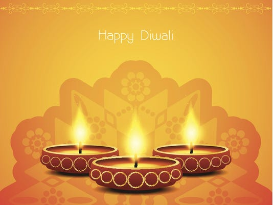 yellow color background design for diwali festival with beautiful lamps.