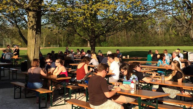 Estabrook Beer Garden, which is usually open by now, is shooting for May 26.