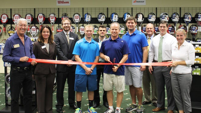 "The Bonita Springs Area Chamber of Commerce held a ribbon cutting ceremony for Tennis ""R"" Us on Oct. 22 to celebrate the opening of their new location at 25987 South Tamiami Trail, Suite No. 97, in Bonita Springs."