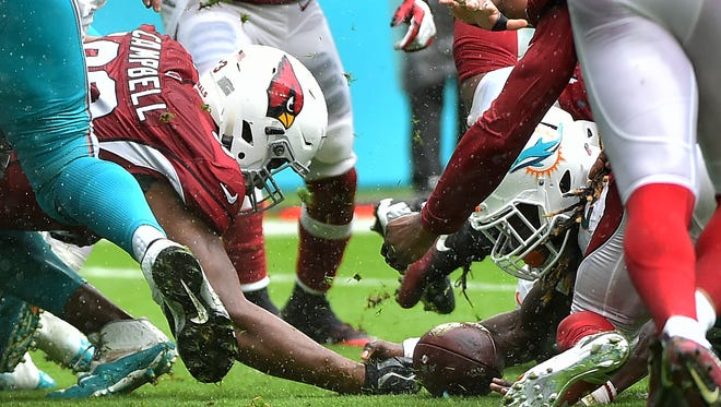 The Arizona Cardinals lost 26-23 on Sunday to the Miami Dolphins.