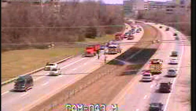 Brush fire closed I-64 for a short time.