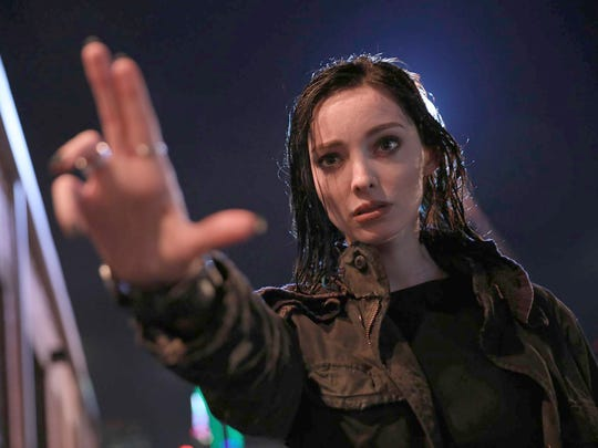 "This image released by Fox shows Emma Dumont in a scene from ""The Gifted,"" premiering Monday, Oct. 2 on FOX."