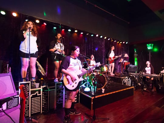 All-girl group The Dolls held an album release party