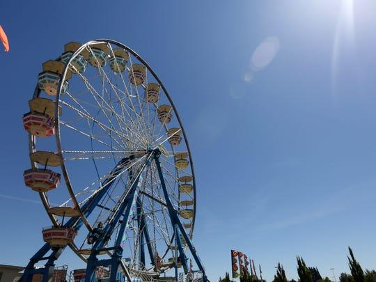 The Ferris wheel at the Oregon State Fairgrounds on Thursday, Aug. 25, 2016.