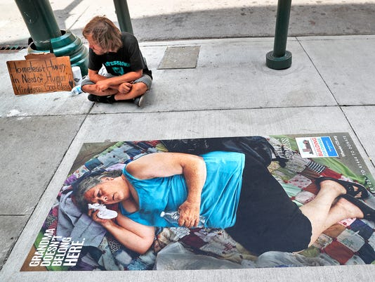Wheeler Mission is using life-size sidewalk photos to increase awareness about homelessness for capital campaign
