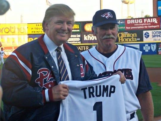 Donald Trump visited TD Bank Ballpark in Bridgewater