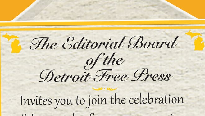Your invitation from the Detroit Free Press editorial board!