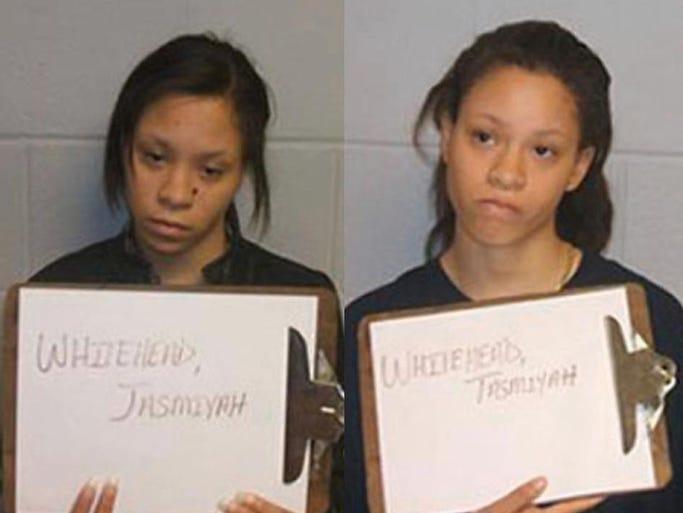 "16 year old Jasmiyah and her twin sister Tasmiyah Whitehead Murder Their Mother, Jarmeca ""Nikki"" Whitehead, 34. Update: Jasmiyah and Tasimyah Whitehead are serving 30-year prison sentences after confessing to the brutal murder of their mother. 1400187043002-Whitehead-twins"