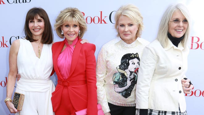 """(L-R) Mary Steenburgen, Jane Fonda, Candice Bergen and Diane Keaton attend the premiere of their latest film """"Book Club"""" on May 6, 2018 in Westwood, Calif."""