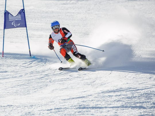 Joel Hunt, from Kokomo who has made US Paralympic team.  He is an army veteran who suffered a traumatic brain injury and partial paralysis in his leg during combat in Iraq and discovered skiing as part of his recovery.