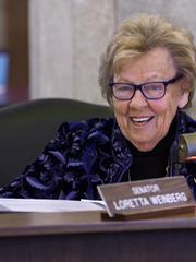 State Sen. Loretta Weinberg, Democrat of Teaneck.