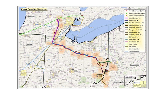 Proposed pipeline for construction through southeast Michigan.