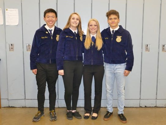 Cumberland Regional High School's Forestry Team placed