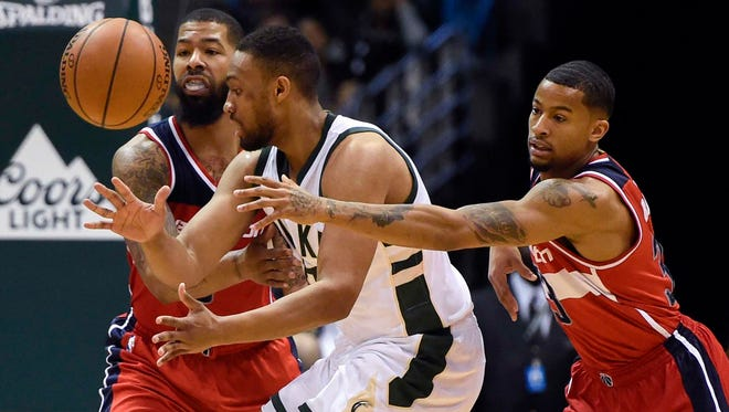 Washington Wizards guard Trey Burke (33) will participate in a free-agent mini camp with the Bucks this week.