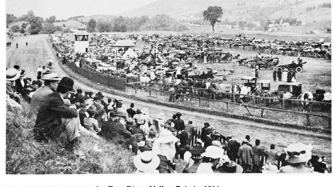 A photo of the races at the Dog River Valley Fair in 1914 taken by Eldred Preston.