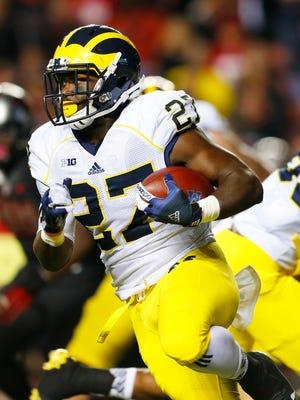 Michigan running back Derrick Green (27).