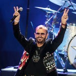 Ringo Starr, formerly of The Beatles, performs in concert with his All Starr Band at the Modell Performing Arts Center At The Lyric Wednesday, Oct. 28, 2015, in Baltimore.