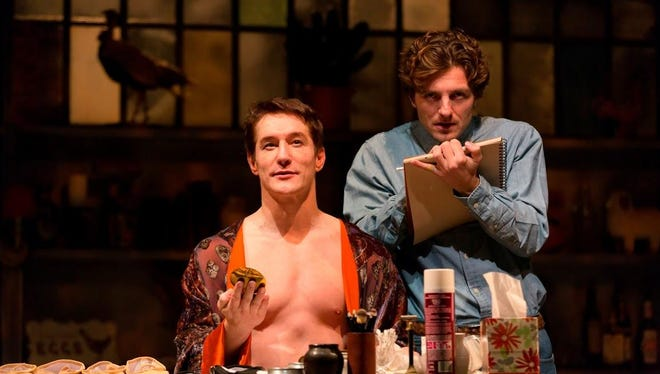 "Bill Dawes (left) and William Connell in ""Nureyev's Eyes"" at George Street Playhouse."