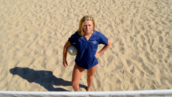Zeeland East graduate Alison Nibbelink is balancing volleyball and nursing this year at Spring Arbor.