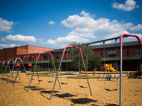 The Townville Elementary playground is photographed on Oct. 3.