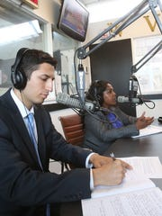 David Tubiolo, left, shown during a debate with candidate Christine Peters on WVOX Radio in 2016.