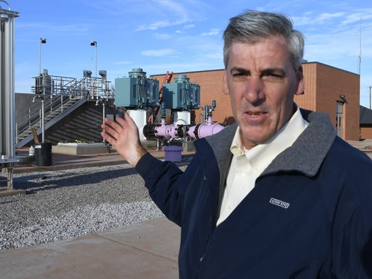 In this Times Record News file photo, Russell Schreiber, director of public works for Wichita Falls, talks about the city's new Indirect Potable Reuse system, which added about $30 million in debt to the city.