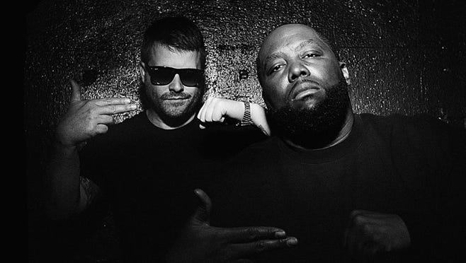 Run the Jewels (El-P, left, and Killer Mike) will perform at Marathon Music Works in January.