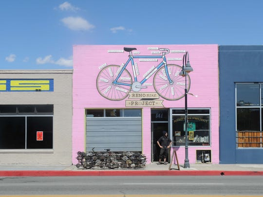 The Reno Bike Project with it's creative exterior is a fixture on the E. Fourth Street corridor,