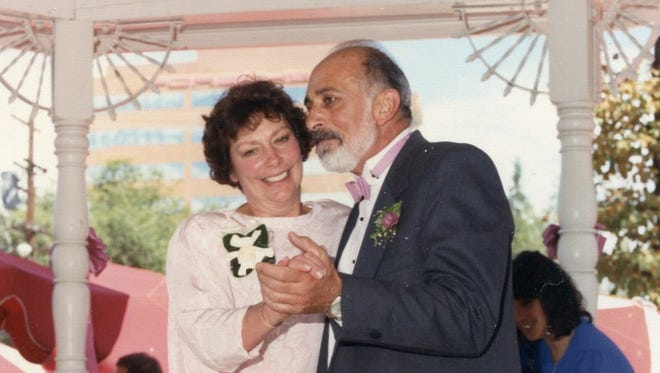 A photo of Albert and Joan Musalo dancing. The Musalos were found dead March 28, 2006.