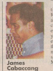 James Cabaccang is shown in a photo in a front page story in the Dec. 6, 1997 edition of the Pacific Daily News. He and his two brothers were found guilty of drug trafficking, the article states.
