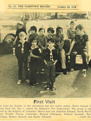 David Morales (second from left in the front row) is pictured in an October 1976 edition of the Robstown Record with other members of Cub Scout Pack 184.