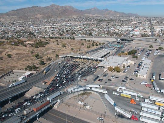 Pictured is a birds-eye view the El Paso Paso del Norte