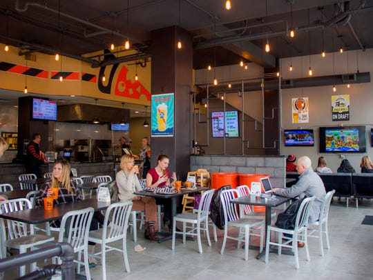 The interior of BYOPizza in downtown Springfield.