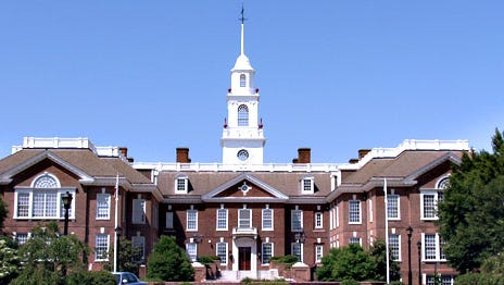 Delaware Legislative Hall. Lawmakers recently introduced a bill to lower the legal blood-alcohol threshold for drunken driving from the currently recognized national standard of .08 percent.