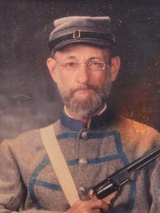 Stickles in his element, dressed in Civil War uniform.