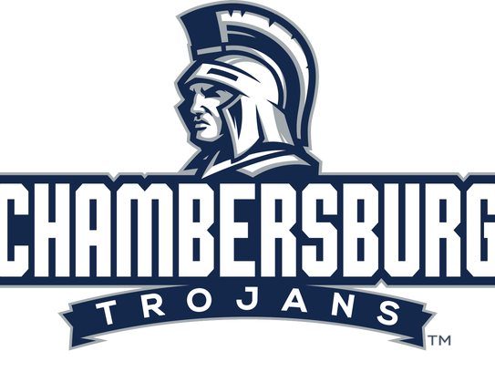 A logo featuring the redesigned Chambersburg Trojan.