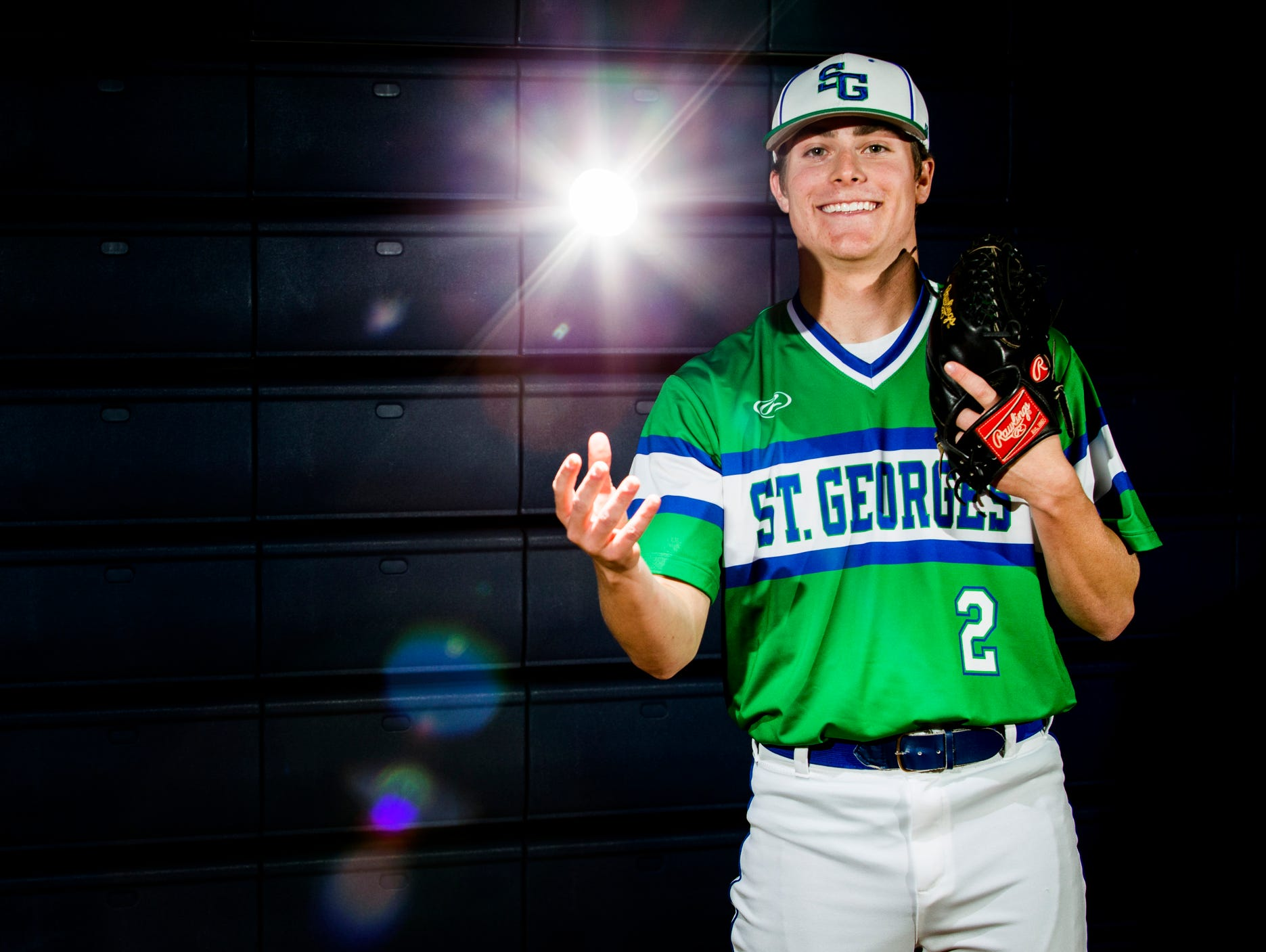 St. Georges pitcher Tyler Campbell held William Penn to four hits over six shutout innings in the Hawks' season opener.