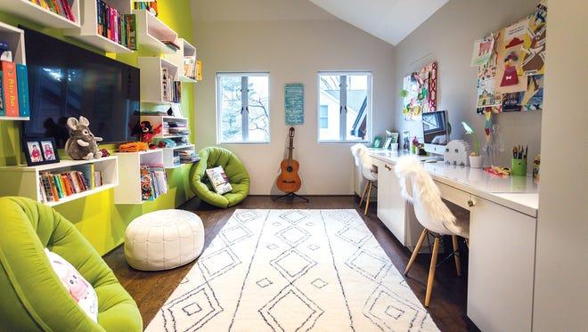 Kids study created by Edgewater interior designer Vanessa Deleon.