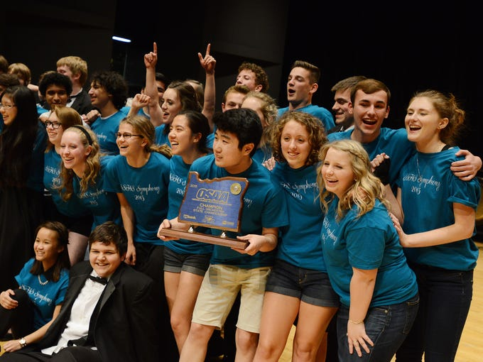 South Salem High School wins the full orchestra competition