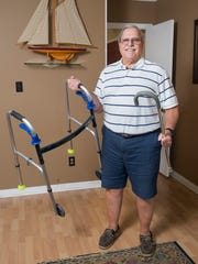 Thanks to two hip and two knee replacement surgeries performed by the Andrews Institute, Jay Botop no longer needs the use of a walker or cane.  November 2, 2017.