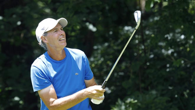Ken Lee, pictured on July 12 at Macktown Golf Course, won his fifth Winnebago County Senior Amateur title on Friday.