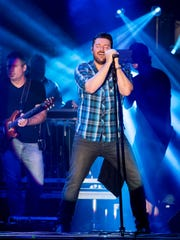 Chris Young performs during Fourth of July celebrations