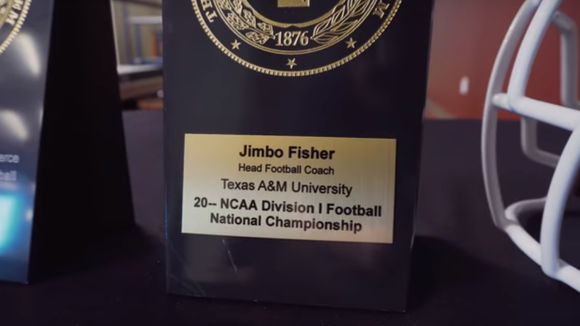Texas A&M gave Jimbo Fisher a dateless national championship plaque