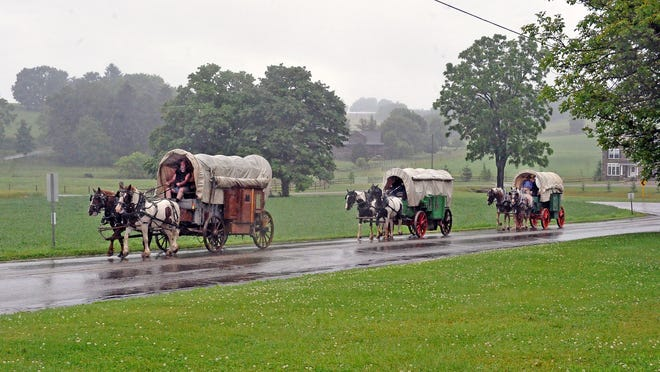 A wagon train makes its way through Holmes County this week staying at a different home each night.