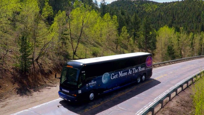 Ramblin Express shuttles take passengers from Pueblo to Cripple Creek.