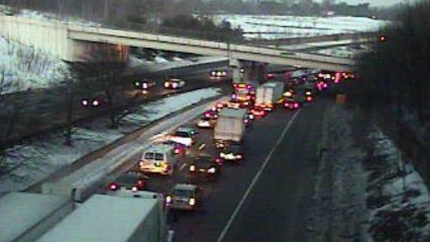 Traffic cam shows backup on northbound I-476.