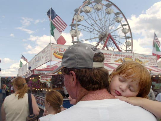 The Harford Fair features a midway of rides along with